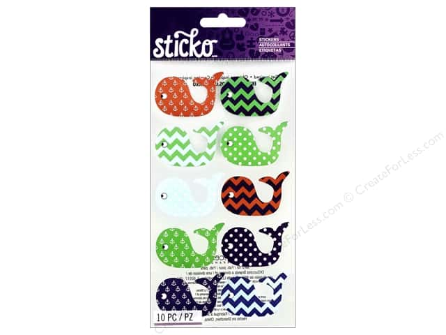 EK Sticko Stickers Patterned Whales