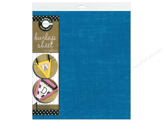 Canvas Corp Burlap Sheet 12 x 12 in. Teal (10 sheets)