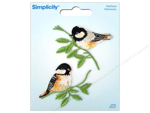 Simplicity Iron On Applique Birds on Branches