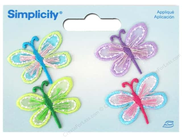 Simplicity Applique Iron On Dragonflies