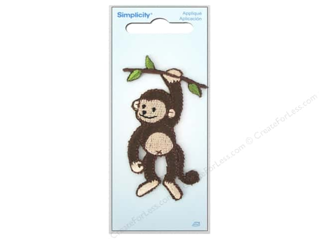 Simplicity Appliques Iron On Monkey