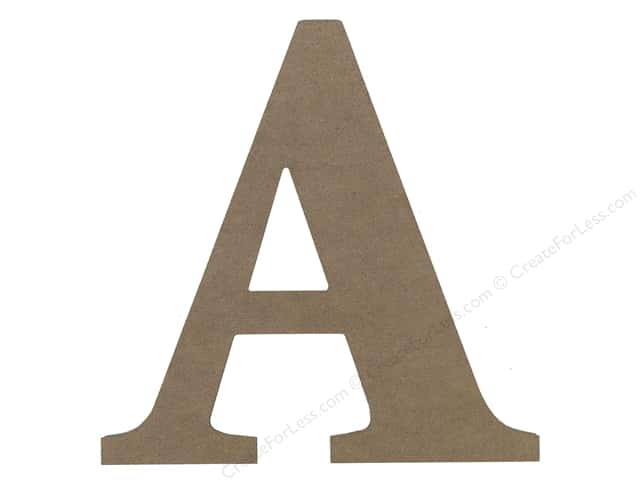 Sierra Pacific Decor MDF Letter 9.45 in. A