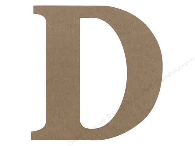 Sierra Pacific Decor MDF Letter 9.45 in. D