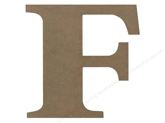 Sierra Pacific Decor MDF Letter 9.45 in. F