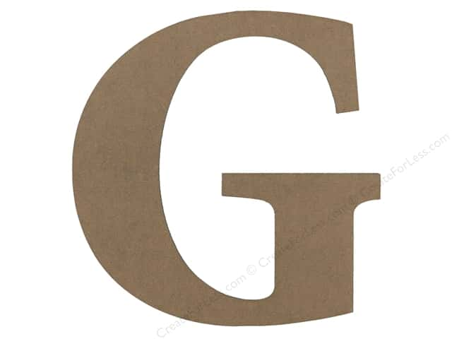 Sierra Pacific Decor MDF Letter 9.45 in. G