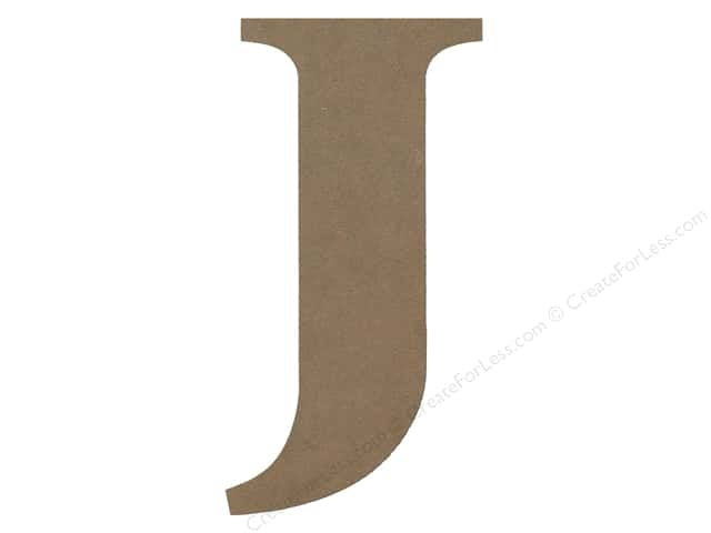 Sierra Pacific Decor MDF Letter 9.45 in. J