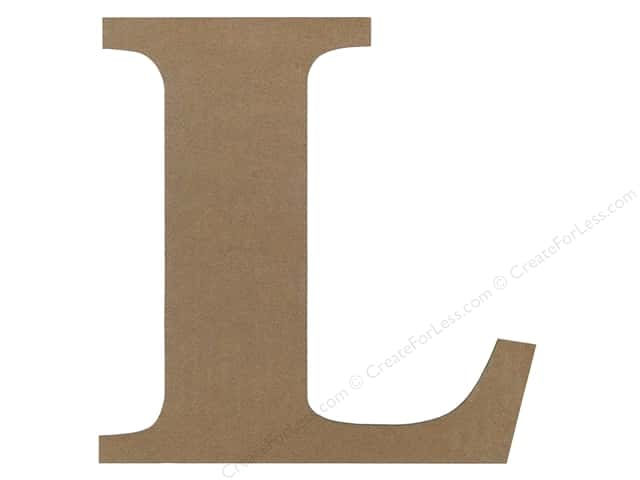Sierra Pacific Decor MDF Letter 9.45 in. L
