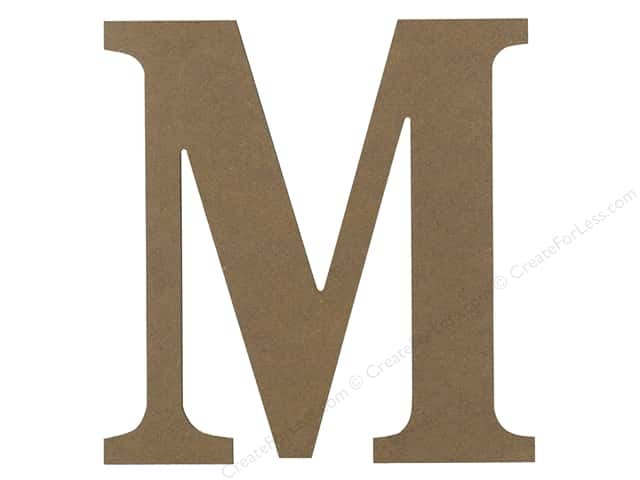 Sierra Pacific Decor MDF Letter 9.45 in. M
