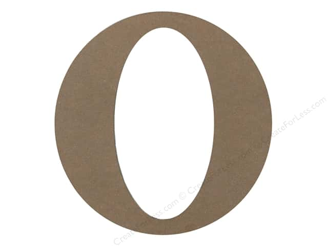 Sierra Pacific Decor MDF Letter 9.45 in. O