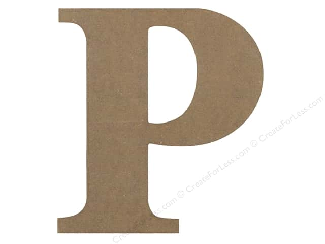 Sierra Pacific Decor MDF Letter 9.45 in. P