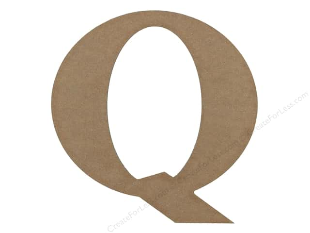Sierra Pacific Decor MDF Letter 9.45 in. Q