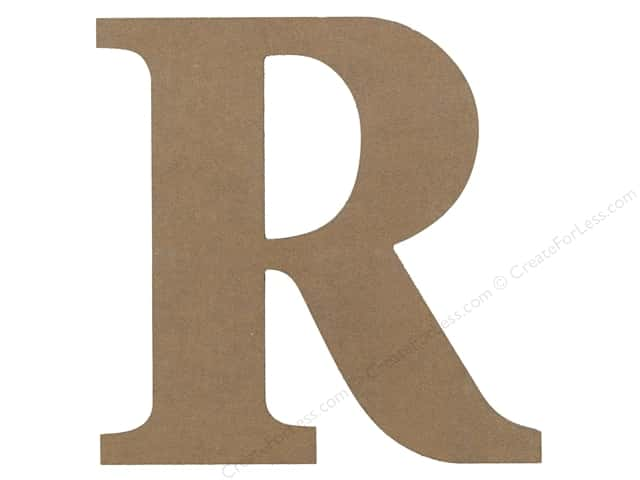 Sierra Pacific Decor MDF Letter 9.45 in. R