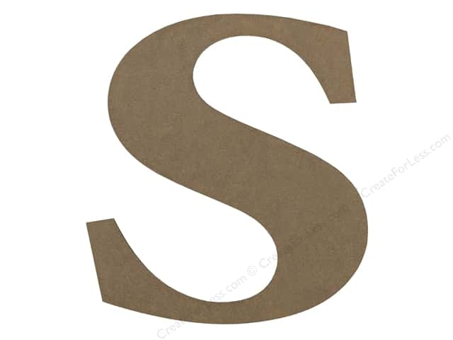 Sierra Pacific Decor MDF Letter 9.45 in. S