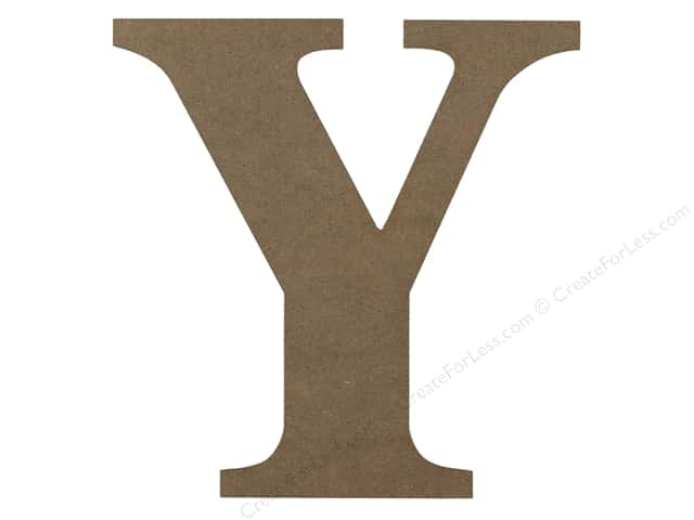 Sierra Pacific Decor MDF Letter 9.45 in. Y