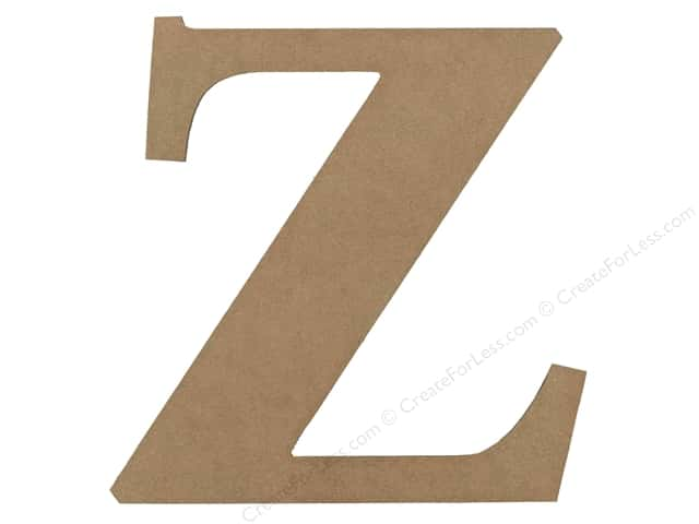 Sierra Pacific Decor MDF Letter 9.45 in. Z