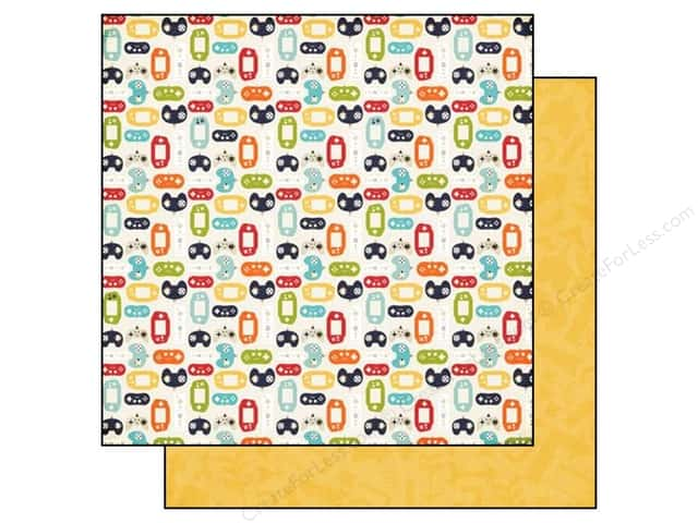 Echo Park 12 x 12 in. Paper That's My Boy Collection Controllers (25 sheets)