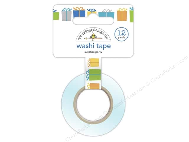Doodlebug Washi Tape 5/8 in. x 12 yd. Surprise Party