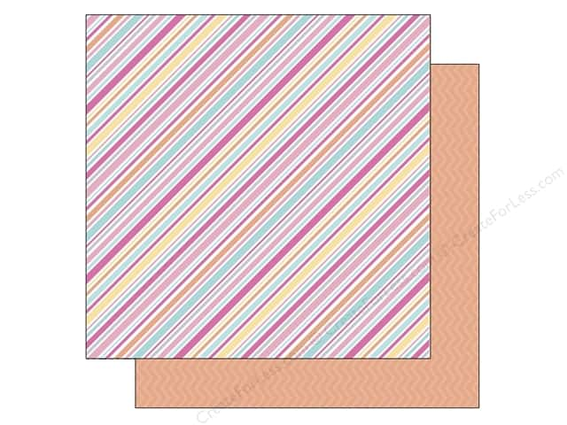 Doodlebug 12 x 12 in. Paper Sugar Shoppe Sorbet Stripe (25 sheets)