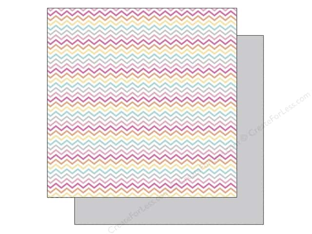 Doodlebug 12 x 12 in. Paper Sugar Shoppe Sherbet Chevrons (25 sheets)