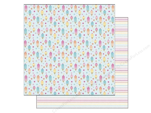 Doodlebug 12 x 12 in. Paper Sugar Shoppe Ice Cream Parlor (25 sheets)