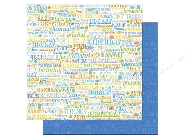 Doodlebug 12 x 12 in. Paper Hip Hip Hooray Birthday Boy (25 sheets)