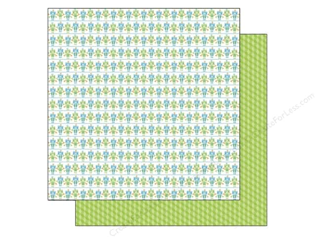 Doodlebug 12 x 12 in. Paper Hip Hip Hooray Bitty Bots (25 sheets)