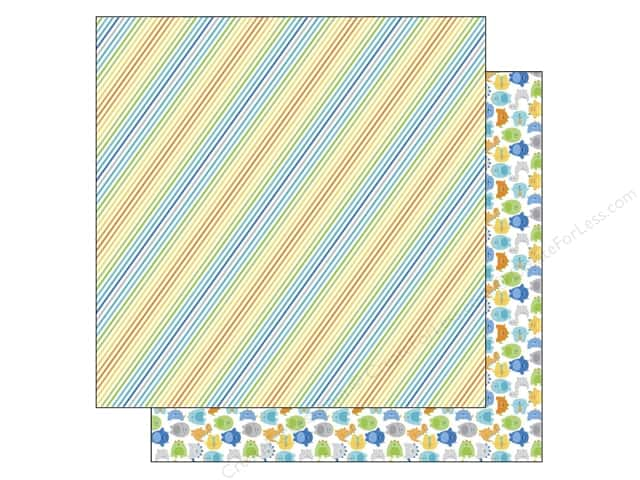 Doodlebug 12 x 12 in. Paper Hip Hip Hooray Striking Stripes (25 sheets)