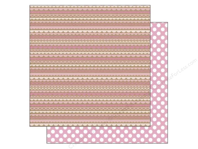 Doodlebug 12 x 12 in. Paper Kraft In Color Cupcake Scallop (25 sheets)