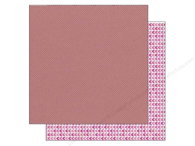 Doodlebug 12 x 12 in. Paper Kraft In Color Bubblegum Stripe (25 sheets)