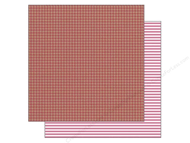 Doodlebug 12 x 12 in. Paper Kraft In Color Ladybug Houndstooth (25 sheets)