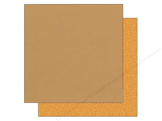 Doodlebug 12 x 12 in. Paper Kraft In Color Tangerine Stripe (25 sheets)