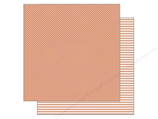 Doodlebug 12 x 12 in. Paper Kraft In Color Tangerine Dot (25 sheets)