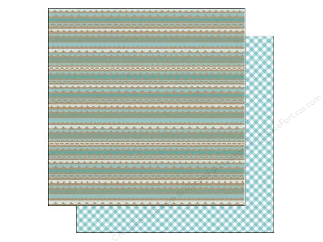Doodlebug 12 x 12 in. Paper Kraft In Color Swimming Pool Scallop (25 sheets)