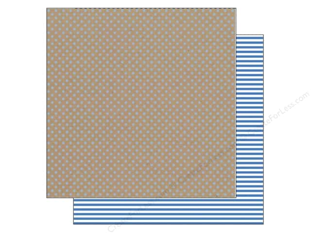Doodlebug 12 x 12 in. Paper Kraft In Color Blue Jean Dot (25 sheets)