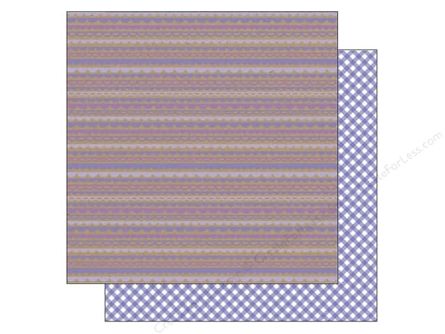 Doodlebug 12 x 12 in. Paper Kraft In Color Lilac Scallop (25 sheets)