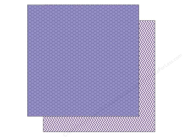 Doodlebug 12 x 12 in. Paper Kraft In Color Lilac Dot (25 sheets)