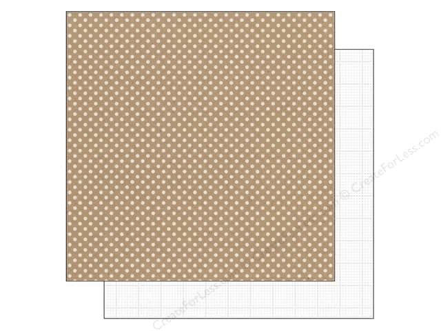 Doodlebug 12 x 12 in. Paper Kraft In Color Lily White Dot (25 sheets)