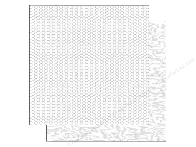 Doodlebug 12 x 12 in. Paper Kraft In Color Lily White Woodgrain (25 sheets)