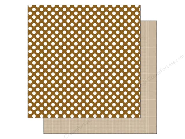 Doodlebug 12 x 12 in. Paper Kraft In Color Bon Bon Dot (25 sheets)