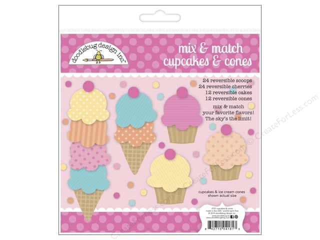 Doodlebug Embellishment Sugar Shoppe Craft Kit Cupcakes & Ice Cream Cones