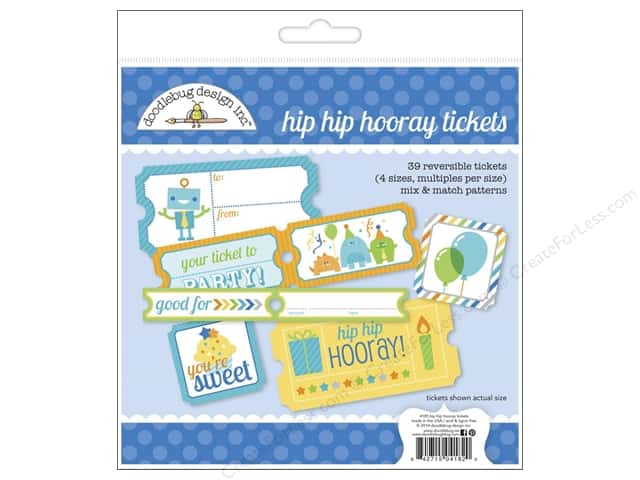 Doodlebug Embellishment Hip Hip Hooray Craft Kit Tickets