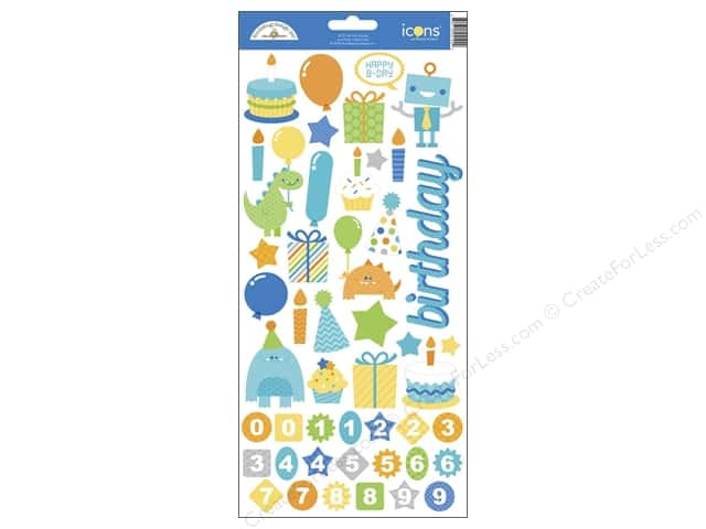 Doodlebug Stickers Hip Hip Hooray Cardstock Icons