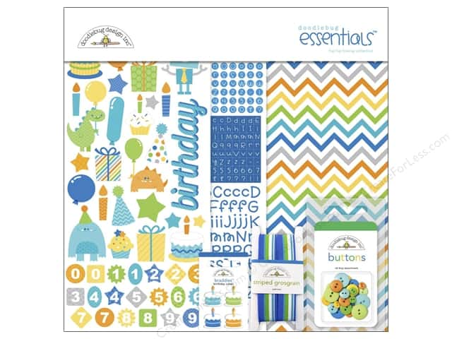Doodlebug Essentials Kit Hip Hip Hooray