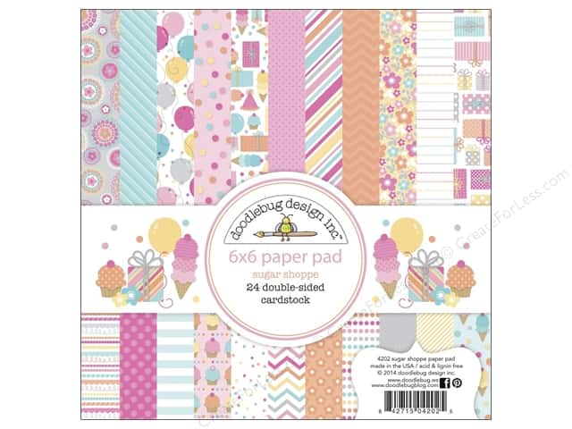Doodlebug 6 x 6 in. Paper Pad Sugar Shoppe