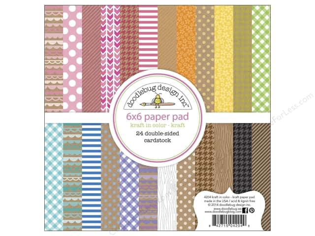 Doodlebug 6 x 6 in. Paper Pad Kraft In Color Kraft