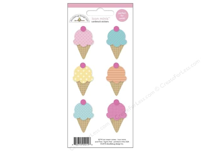 Doodlebug Sticker Icon Minis Sugar Shoppe Ice Cream Cones