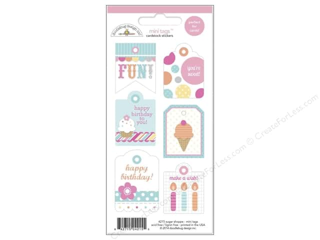 Doodlebug Sticker Mini Tags Sugar Shoppe (12 sets)