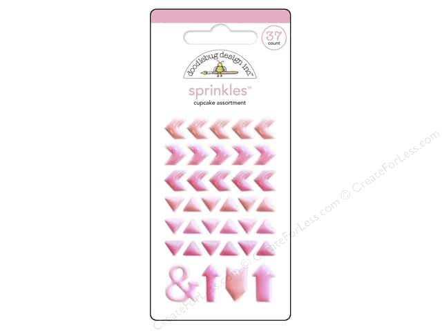 Doodlebug Sprinkles Stickers Arrow Cupcake