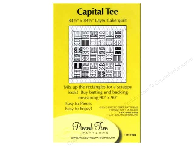 Pieced Tree Tiny Capital Tee Pattern Card