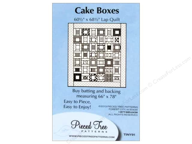 Pieced Tree Tiny Cake Boxes Pattern Card